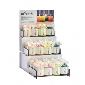 Nr. 5047 - Starter-Set ´Wortlicht-Mini´ (24 Kerzen + 1 Display)